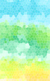 Green low poly design abstract background. Stock Photography