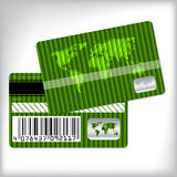 Green loyalty card design Stock Photography