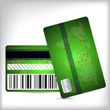 Green loyalty card design front and back Royalty Free Stock Photo