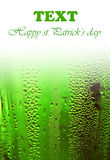 Green lucky beer background border Stock Photo