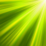 Green luminous rays. EPS 8 Stock Photos