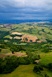 Green lush countryside Royalty Free Stock Images