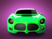 Green luxury brandless sport car on pink background Stock Photo