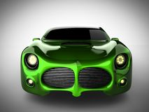 Green luxury brandless sport car on white background Royalty Free Stock Photo