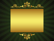Green luxury greeting card Stock Photography
