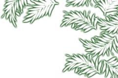 green målade växter stock illustrationer