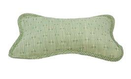 green mönstrad kudde Arkivfoto