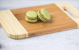 Green macaron cookies Royalty Free Stock Photo