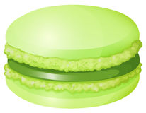 Green macaron with cream Stock Photography