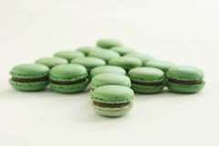 Green Macarons. This is matcha   macarons ,delicious teatime Royalty Free Stock Image