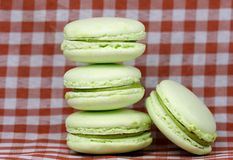 Green macaroons Royalty Free Stock Photos