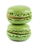 Green macaroons Stock Photo