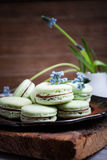Green macaroons Stock Image