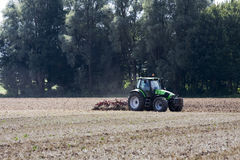 Green machine. A photo of a agricultural machine stock image