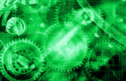 Green Machinery Background Royalty Free Stock Image