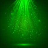 Green magic light abstract background Royalty Free Stock Photos