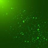 Green magic light abstract background Stock Photos