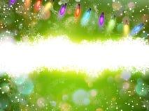 Green magic light horizontal background. EPS 10 Stock Image