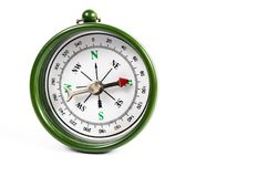 Green magnetic compass Royalty Free Stock Images