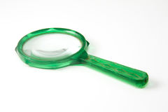 Green magnifying glass Royalty Free Stock Image