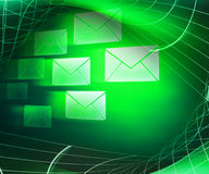 Green Mail Abstract Background Stock Photos