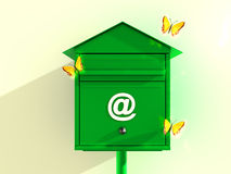 Green Mail box Stock Images