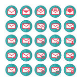 Green mail icons. Royalty Free Stock Photo