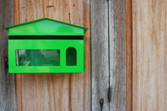 Green Mailbox. North of Thailand Stock Photography