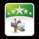 Green mailbox advertisement Stock Image