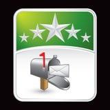 Green mailbox advertisement Stock Image