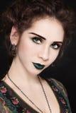 Green make-up Stock Photo