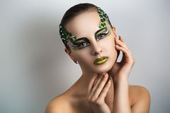 Green make up Stock Photo