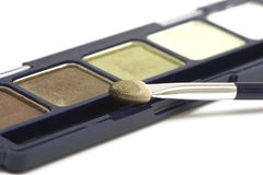 Green make-up eyeshadows Stock Photography