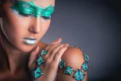 Green makeup Royalty Free Stock Image