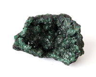 Green Malachite crystal cluster Royalty Free Stock Photos