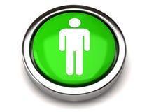 Green male icon Stock Photos