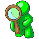 Green man detective Stock Photography