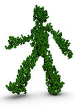Green man environmental concept Stock Photo