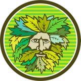 Green Man Foliate Head Circle Retro Stock Photos