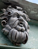 The Green Man Gargoyle Awake Royalty Free Stock Photo