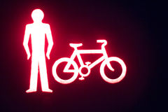Green man go pedestrian traffic light Royalty Free Stock Photography