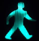 Green man go pedestrian traffic light. Sign Royalty Free Stock Photography