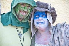 Green man and Mrs Winter Stock Photos