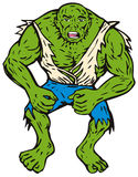green man muscles Στοκ Φωτογραφίες