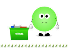 Green man recycling Royalty Free Stock Images