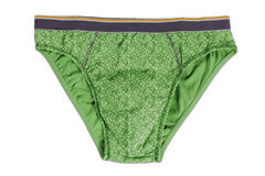 Green Man's Underwear. On white background Royalty Free Stock Photo