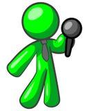 Green man singer Stock Images