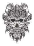 Green man skull art. Royalty Free Stock Photos