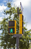 Green man traffic light Royalty Free Stock Photo