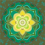 Green mandala stock photo